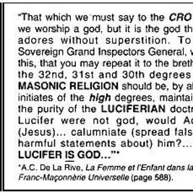 Masonry is Luciferian