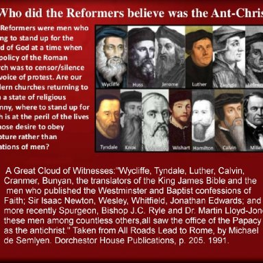 Reformers Interpretations of Anti-Christ